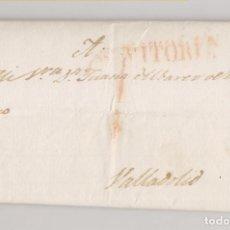 Sellos: PREFILATELIA. CARTA ENTERA. VITORIA A VALLADOLID. 1836. PAÍS VASCO. Lote 220527390