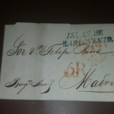 Selos: CARTA DE 1830 DESDE LA HABANA A MADRID. Lote 220605196