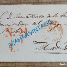 Francobolli: ALMERIA, 1850, CARTA COMPLETA DIRIGIDA A MADRID, AL ADMINISTRADOR DEL DUQUE DE SAN LORENZO. Lote 221772815
