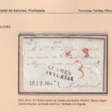 Sellos: 1829. LLANES A MADRID. PORTEO 8 CUARTOS. MARCA LLANES/ASTURIAS Nº 4 DE LLANES.. Lote 221777248