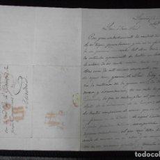 Sellos: SIGLO XIX CARTA DE LOGROÑO LA RIOJA A MADRID PREFILATELIA. Lote 221819971