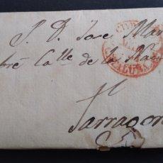 Sellos: HISTORIA POSTAL CARTA TARROJA A TARRAGONA AÑO 1854 SIGLO XIX. Lote 222028030