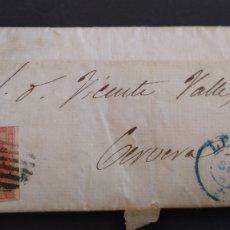 Sellos: HISTORIA POSTAL CARTA DE LÉRIDA A CERVERA AÑO 1847 SIGLO XIX SELLO 4 CUARTOS. Lote 222029961