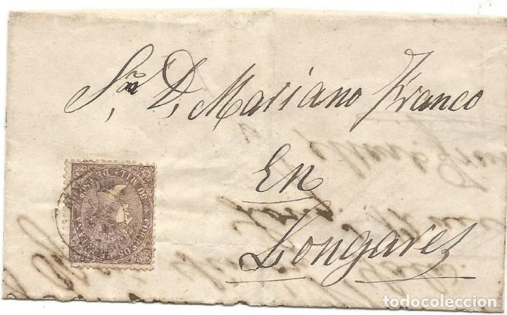 ENVUELTA CARTA ENTERA ZARAGOZA 1869 (Filatelia - Sellos - Prefilatelia)