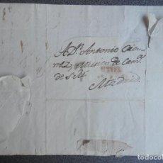 Sellos: PREFILATELIA CARTA COMPLETA AÑO 1829 UTIEL VALENCIA CON MARCA PREFILATÉLICA. Lote 222137647
