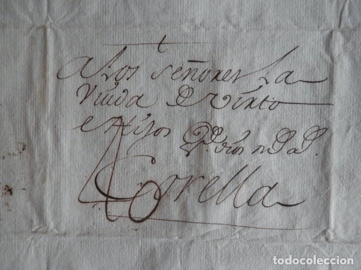 PREFILATELIA BONITA CARTA ÑO 1763 BAYONA CORELLA NAVARRA LETRA LUJO - COMERCIO LANAS, PORTEO 40 (Filatelia - Sellos - Prefilatelia)