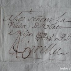 Sellos: PREFILATELIA BONITA CARTA ÑO 1763 BAYONA CORELLA NAVARRA LETRA LUJO - COMERCIO LANAS, PORTEO 40. Lote 222179650