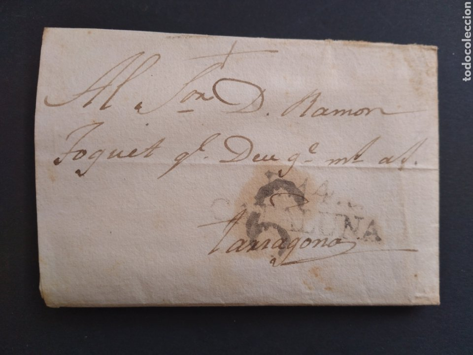 HISTORIA POSTAL CARTA DEL 1831 DE ARBECA A TARRAGONA CON MARCA CATALUÑA 14 Y MARCA 6 (Filatelia - Sellos - Prefilatelia)