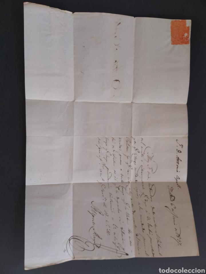 Sellos: Historia postal carta del 1837 de Madrid a Lérida con marca 8 - Foto 3 - 222643945