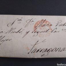 Sellos: HISTORIA POSTAL CARTA DEL 1854 DE TARROJA A TARRAGONA, 2 MATASELLOS CERVERA Y TARRAGONA CATALUÑA. Lote 222645383