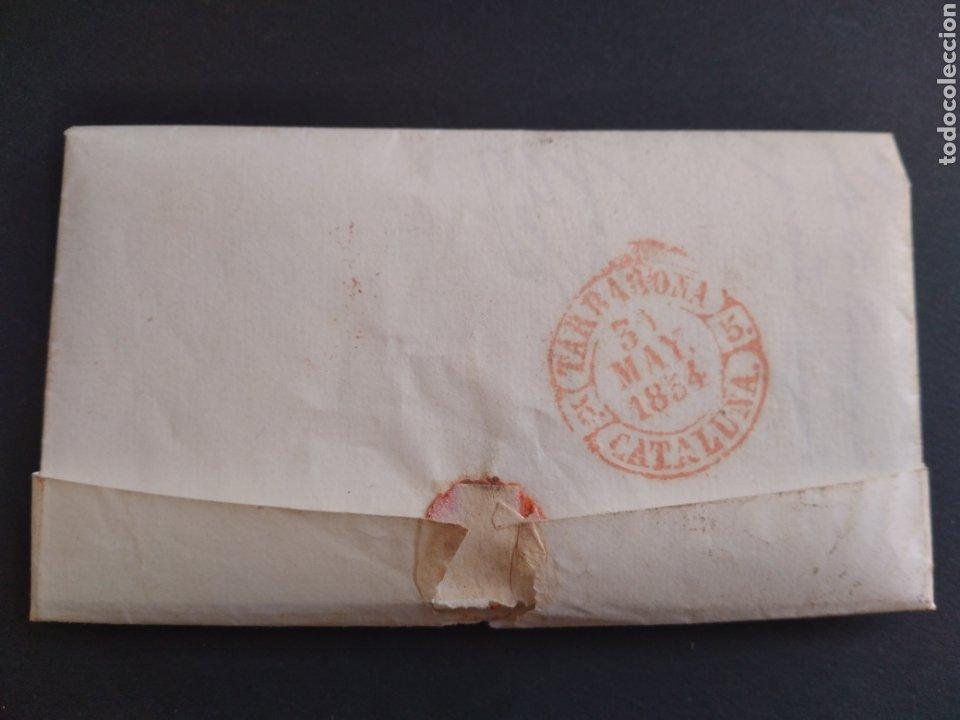 Sellos: Historia postal carta del 1854 de Tarroja a Tarragona, 2 matasellos Cervera y Tarragona Cataluña - Foto 2 - 222645383