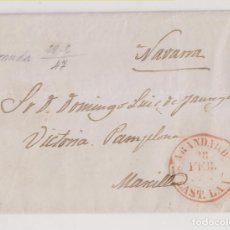 Sellos: PREFILATELIA. CARTA ENTERA. ARANDA DE DUERO, BURGOS, A MARCILLA, NAVARRA. 1847. Lote 222847258