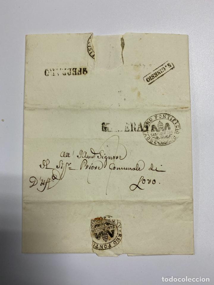 SOBRE DEL ESTADO VATICANO. 29 FEBRERO DE 1845. VER FOTOS (Filatelia - Sellos - Prefilatelia)