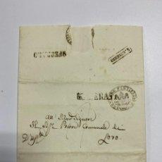 Sellos: SOBRE DEL ESTADO VATICANO. 29 FEBRERO DE 1845. VER FOTOS. Lote 224037777