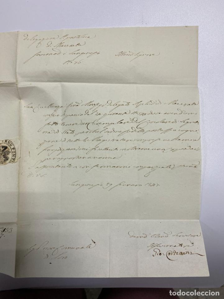 Sellos: SOBRE DEL ESTADO VATICANO. 29 FEBRERO DE 1845. VER FOTOS - Foto 2 - 224037777