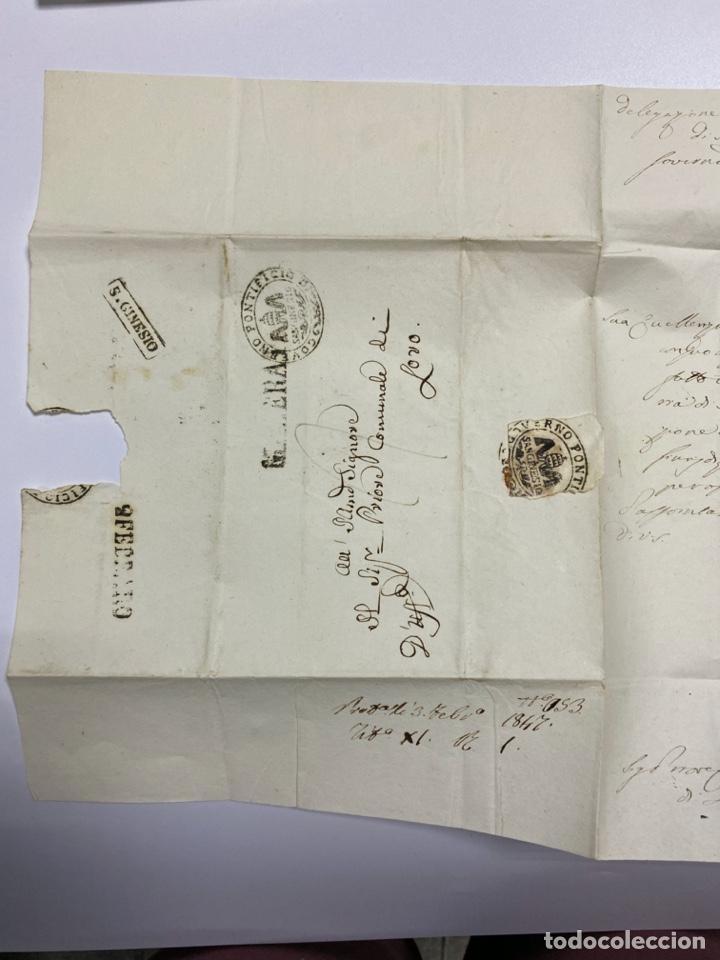 Sellos: SOBRE DEL ESTADO VATICANO. 29 FEBRERO DE 1845. VER FOTOS - Foto 3 - 224037777