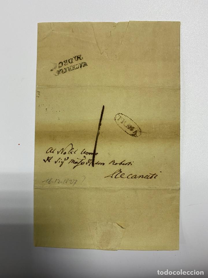 SOBRE DEL ESTADO VATICANO. 18 DICIEMBRE DE 1827. VER FOTOS (Filatelia - Sellos - Prefilatelia)