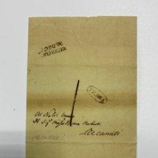 Sellos: SOBRE DEL ESTADO VATICANO. 18 DICIEMBRE DE 1827. VER FOTOS. Lote 224037982
