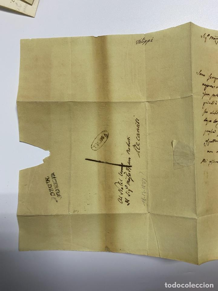 Sellos: SOBRE DEL ESTADO VATICANO. 18 DICIEMBRE DE 1827. VER FOTOS - Foto 4 - 224037982