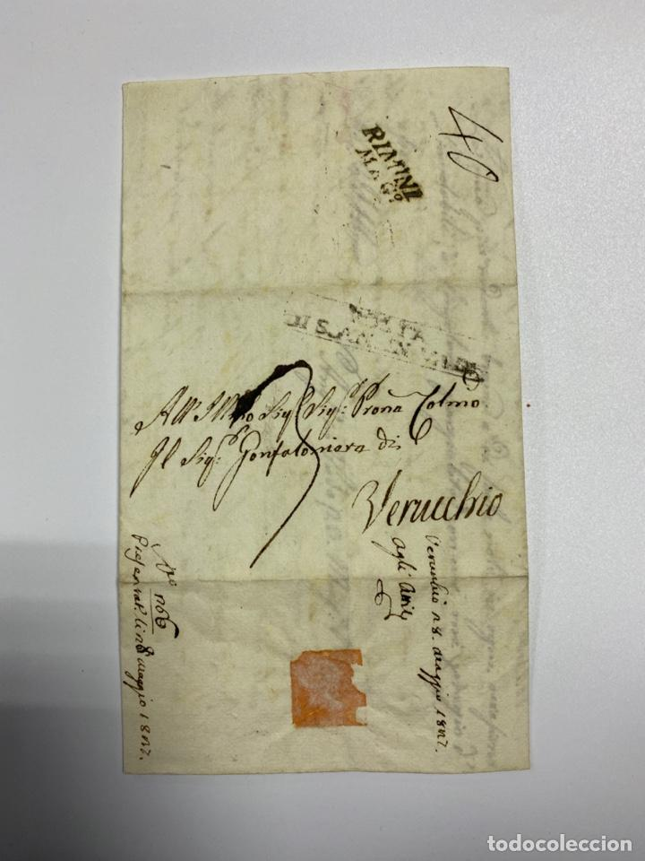 Sellos: SOBRE DEL ESTADO VATICANO. AÑO 1812. VER FOTOS - Foto 2 - 224038156