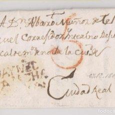 Sellos: PREFILATELIA. CARTA ENTERA. DAIMIEL, CIUDAD REAL. 1805. Lote 224935998