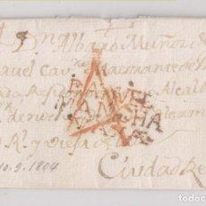Sellos: PREFILATELIA. CARTA ENTERA. DAIMIEL, CIUDAD REAL. 1804. Lote 224936175