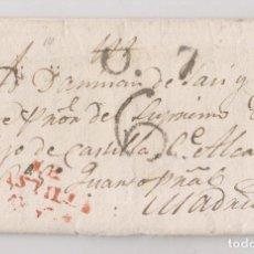 Sellos: PREFILATELIA. CARTA ENTERA. RIOSECO. 1828. VALLADOLID. Lote 225064530