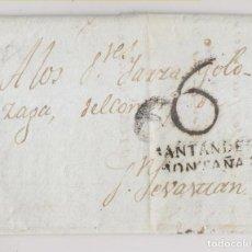 Sellos: PREFILATELIA. CARTA ENTERA. SANTANDER, CANTABRIA, A SAN SEBASTIÁN, GUIPÚZCOA. 1806. Lote 227917785