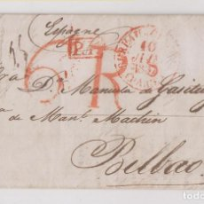 Sellos: PREFILATELIA. CARTA ENTERA. BURDEOS A BILBAO, VIZCAYA. 1834. PAÍS VASCO. Lote 229040540