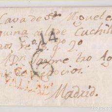 Sellos: PREFILATELIA. CARTA ENTERA. VALLADOLID A MADRID. 1823. Lote 229664470
