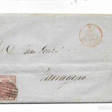 Sellos: SOBRE - CARTA COMERCIAL 1855 - ALICANTE - CURIOSA AUTORIZACION ENBARQUE BUQUE IRIS - VER FOTOS. Lote 229701255