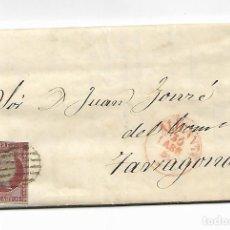 Sellos: SOBRE - CARTA COMERCIAL 1855 - ALICANTE - CURIOSA AUTORIZACION ENBARQUE BUQUE MARCANO - VER FOTOS. Lote 229701700