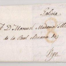 Sellos: PREFILATELIA. CARTA ENTERA. MADRID. 1818. AL ALCAIDE ADUANA DE VIGO. GALICIA. Lote 231660090