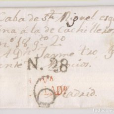 Sellos: PREFILATELIA. CARTA ENTERA. VALLADOLID, 1823. Lote 231662120