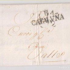 Sellos: PREFILATELIA. CARTA ENTERA. BARCELONA A VALLS, TARRAGONA. 1817. LUJO. Lote 231663240