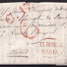 Francobolli: 1841. ALDEA DEL PINAR A MADRID. MARCA EL BURGO/OSMA RECERCADA. PORTEO 6 CUARTOS. MUY BONITA.. Lote 234285450