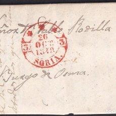 Francobolli: 1849. GOMARA A EL BURGO DE OSMA. FECHADOR EN ROJO. SIN MENCIÓN PORTEO. MUY BONITA.. Lote 234286360