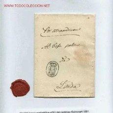 Sellos: PREFILATELIA MADRID Nº63 CATALOGO GUINOVART CON LACRE DE ISABEL II 1835 CORREO REAL [. Lote 236572060