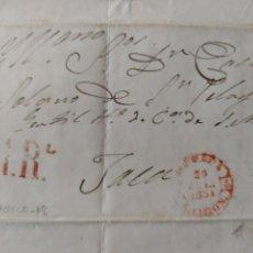Sellos: PREFILATELIA ARAGÓN CARTA 1851 A JACA BAEZA HUESCA PORTEO 1 R. Lote 72128322