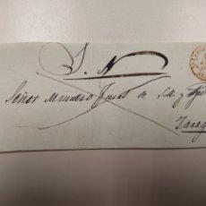 Sellos: PREFILATELIA ARAGÓN PLICA JUDICIAL 1845 BELCHITE A ZARAGOZA Y PARTE DE MARCA FRANCO. Lote 69877155