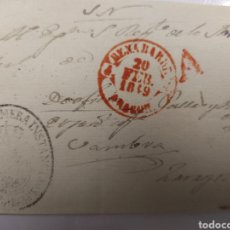 Selos: PREFILATELIA ARAGÓN PLICA JUDICIAL DE BENABARRE A ZARAGOZA 1849 MARCAS DE BAEZA BENABARRE Y ABONO. Lote 69878297