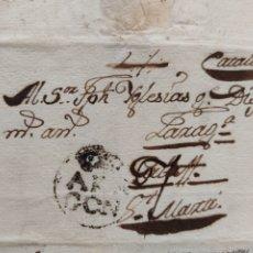 Sellos: PREFILATELIA ARAGÓN CARTA DE ESCATRÓN A S. MARTI 1788. Lote 239424660