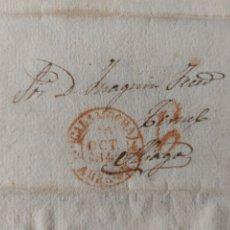 Timbres: PREFILATELIA ARAGÓN CARTA 1844 A ALIAGA TERUEL, BAEZA DE CALAMOCHA PORTEO 6. Lote 71785183