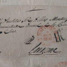 Sellos: PREFILATELIA ARAGÓN ENVUELTA 1851 A TARAZONA BAEZA CALATAYUD PORTEO 1R. Lote 71834443