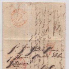 Francobolli: PREFILATELIA. CARTA ENTERA. VALENCIA A SAN FELIPE DE XÁTIVA, JÁTIVA. 1844. LLEGADA. Lote 241456115