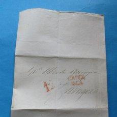 Selos: CARTA PREFILATÉLICA. CÁDIZ, ZARAGOZA. 1840?. Lote 243403280