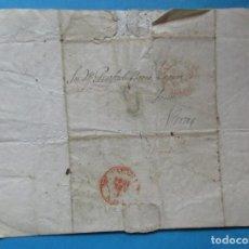 Selos: CARTA PREFILATÉLICA. IRÚN, VIZCAYA, VERA, NAVARRA, CARTUJA BAJA. 1844.. Lote 243420950