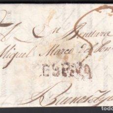 """Timbres: CARTA CIRCULADA A BUENOS AIRES. (ARGENTINA). MARCA """"ESPAÑA"""" EN NEGRO. Lote 243431100"""