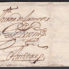 Timbres: SEVILLA A AMBERES. (PAÍSES BAJOS) 1688, CIRCULADA DURANTE EL PERIODO DE LA DOMINACIÓN ESPAÑOLA. Lote 243436820