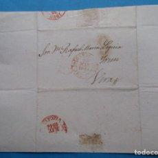 Sellos: CARTA PREFILATÉLICA. 1843. VERA, NAVARRA. IRÚN, VIZCAYA, ZARAGOZA, ARAGÓN.. Lote 243796625